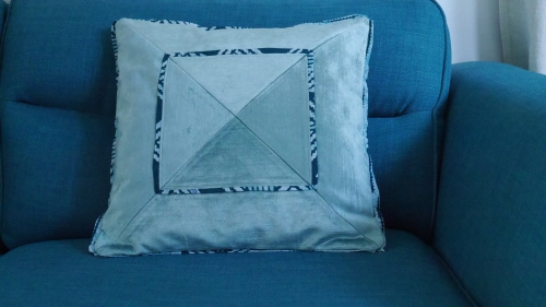 11. The finished cushion cover