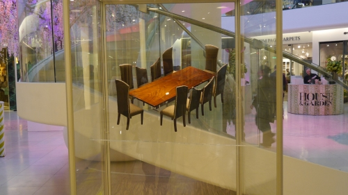 'This is an exquisite model of a dining table and chairs and, YES, we did see the real thing – clever!'