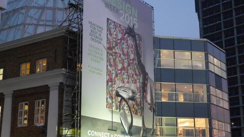 'Outside the London Design Centre'